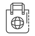 eco bag icon outline style vector image