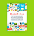 Education Science Poster Template vector image