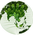 Environmental theme with plant on earth vector image vector image