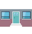 exterior building with door and window vector image vector image