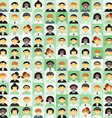 Flat Design Background Different People Character vector image vector image