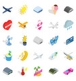 flier icons set isometric style vector image vector image
