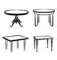 furniture set interior doodle furnishing tables vector image