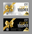 gift card or voucher template with vector image