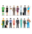 group people with different occupation wearing vector image vector image