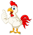 Happy cartoon rooster thumb up vector image vector image