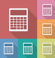 Icon of Calculator vector image vector image