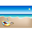Inflatable Boat and Scuba Mask vector image vector image