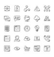 internet doodle icons set vector image
