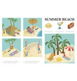 isometric summer vacation composition vector image vector image
