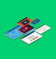 isometric user interface design vector image vector image