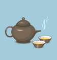 kettle teapot drink hot breakfast kitchen utensil vector image vector image