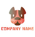 minimalistic dog head with space for a text logo vector image vector image