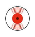 music vinyl disk vintage cartoon vector image vector image