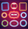 neon lights banners set vector image