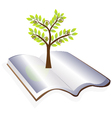open book with tree logo vector image vector image