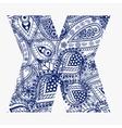 Oriental style alphabet vector image vector image