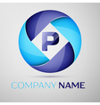 P letter colorful logo in the circle template for vector image