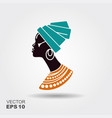 portrait beautiful african woman in traditional vector image vector image