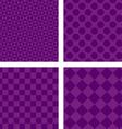 Purple abstract geometric shape wallpaper set vector image vector image