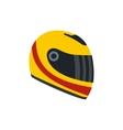 Racing helmet flat icon vector image vector image