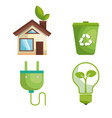 recycling related design vector image vector image