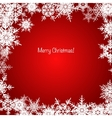 Red and white shiny Christmas snowflake background