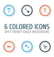 repair icons set collection of digging shears vector image vector image
