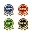 ribbons award best price label set gold ribbon vector image