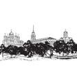 russian ancient city vladimir landscape travel vector image
