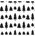 seamless christmas background with cute christmas vector image vector image