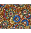 seamless graphical paisley ethnic print vector image