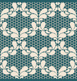 seamless light lace pattern on blue background vector image vector image