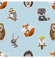 seamless pattern with cute baanimals for kids vector image