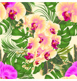 seamless texture tropical flowers yellow and vector image vector image