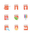 set of book logo combination bookstore and vector image vector image