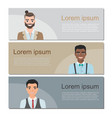 set of business banners with characters vector image