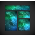 set of visual corporate identity with galaxy Milky vector image