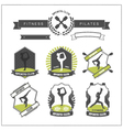 set sports clubs badges vector image vector image