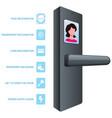 smart door lock vector image