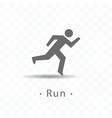 sport running man icon on vector image