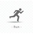 sport running man icon vector image