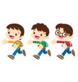 student boy walking vector image vector image