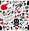 suicide seamless pattern vector image vector image