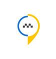 taxi icon 2 vector image vector image