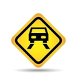 traffic sign concept icon car road vector image vector image