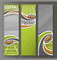 vertical banners for american football vector image vector image