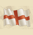 vintage flag england vector image