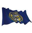 waving flag state nebraskaxa vector image
