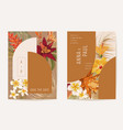 wedding tropical floral invitation dry tropic vector image vector image